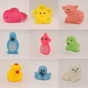 Pvc Baby Toys Animals Bathing Toy Squeeze Sound Squeaky Soft Floating Rubber Swimming Kid Gift Multi Color 0 4sd G2