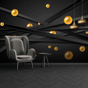 Custom 3D Photo Wallpaper Modern Geometric Stripes Circles Poster Mural Bedroom Living Room TV Background Wall Papers Home Decor
