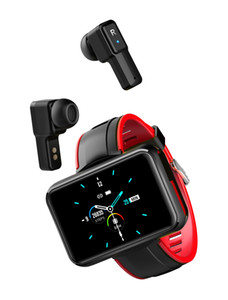 T91 2-in-1 Smart Bracelet Wireless Bluetooth 5.0 Earphone IP68 Waterproof Sports Wristband PPG+ECG Fitness Tracking Smart Watch