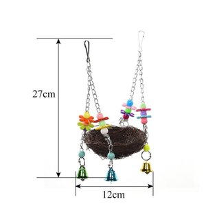 Hot Sale Handcraft Bird's Nest Toys And Cage For Birds And Other Small Animals To Play Bite Cl qylXIB sports2010