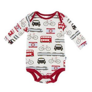 INS Cartoon Car baby rompers long sleeve baby boys romper cotton newborn rompers Infant Jumpsuit baby boy s clothes B2704