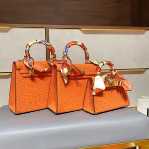 Borse a tracolla Lussurys Designer Kelly Bag in pelle Pelle Solds Solds Borse da donna Borse Designer Borse Kelly Bag Ostrich H 2D Generazione