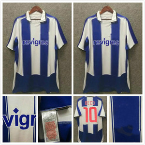 Porto Retro Soccer Jersey 2003 2004 Cup Final Home Uomini # 10 Deco Finals Vintage Camicia da calcio Kit Classic Uniform # 77 McCarthy # 11 Derlei