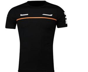 F1 Traje de carreras Camiseta de manga corta T-shirt de la serie de ventiladores de carreras Versión del equipo Cuello redondo Cuello de secado rápido Top transpirable Jersey deportivo