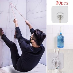 30x Strong Transparent Suction Cup Sucker Wall Hooks Hanger For Kitchen Bathroom