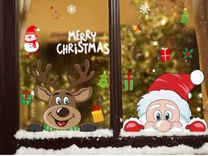 Wall Stickers Festival Wall Decals Santa Murals New Year Christmas Decorations for Home Decor Window Glass 2020 Merry Christmas