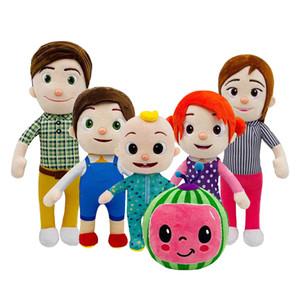 15-33cm Cocomelon 플러시 장난감 만화 TV 시리즈 가족 cocomelon jj 가족 자매 형제 엄마와 아빠 장난감 dall 키즈 크리스마스 선물