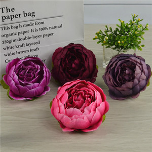 10pcs bag Artificial Flowers For Wedding Decorations Silk Peony Flower Heads Party Decoration Flower Wall Wedding Backdrop White Peony