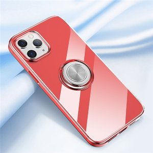 Clear Ring Phone Cover Case For iPhone 11 12 Pro Max 11 7 8 Plus Case Magnetic Silicone Funda Coque