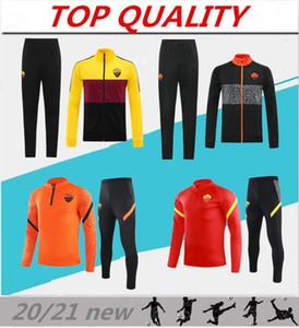 2020 2021 روما سترة كرة القدم مجموعات رياضية Survetement 20/21 Dzeko Totti Zaniolo Kluivert Abbigliamento Sportivo Soccer Training Suit