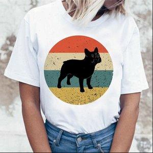 Dachshund Pug Teckel drôle T-shirts Femmes Harajuku Mignon Bulldog French Frances German Berger T-shirt Tshirt Top Top Thees