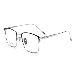 Mongoten Business Men B-Titanium Full Rim Myopia Очки Очки Clear Lens Goggle Brand Design Brand Black Gold Optical Eyeglasses