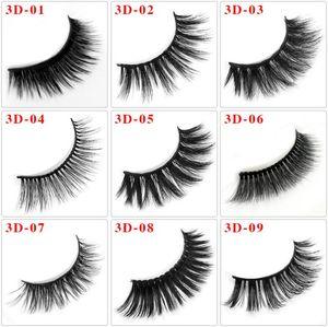 Natural Mink Eyelashes 3D Mink Lashes Long Thick False Eyelashes High Volume Eye Lashes Hand Made Makeup Eyelash Soft 36 Styles choose