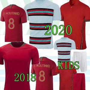 20 21 Fernandes Ronaldo Joao Felix Futbol Jersey Erkekler Çocuklar 2020 2021 André Silva Pepe Danilo Quaresma Futbol Gömlek Erkek Seti Üniforma Tay