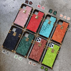 Fashion Designer iPhone 12 Pro Max 12 Mini 11 XR XS MAX 7/8 Plus PU Shell Phone Shell per Samsung S20 S10 Plus Nota 8 9 10