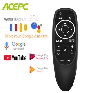 Backlit G10 Pro Air Mouse Voice Control Gyro Sensing 2.4G Wireless Remote IR Learning USB Receiver for Android BOX H96 X96 A95X