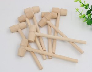 Wood Mini Hammer Knocking Planet Cake Small Little Wooden Hammer Children Flat Head Toy Raft Fast
