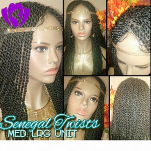 Hotselling Black Senegalese Twist Wig с Baby Hair Lace Front Twist Twired Парики для черных женщин Мамбо Полная голова