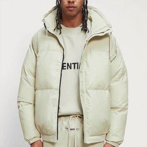 Yeşil Kış Aşağı Ceket Erkekler Kadınlar En Kaliteli Fermuar Standı Yaka Ekmek Mont Giyim Giyim