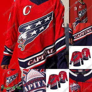Capitali di Washington Alex Ovechkin 2021 Reverse Retro Jersey Zdeno Charra Henrik Lundqvist Nickla Backstrom Tom Wilson Braden Holtby Carlson