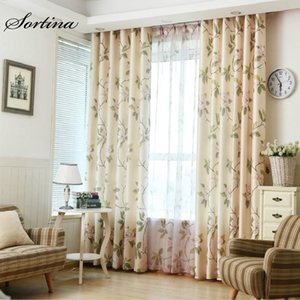 Bedroom Blackout Yellow Curtain Window Living Room Roman Door Kids Girls Curtains and Tulle Modern Cartoon Flower Drapes