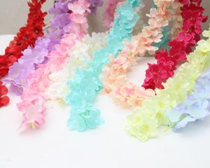 luxury Home Decor 35cm Artificial Flowers silk Wisteria Flower Vine Garland for Party Room Home Hotel Event PARTY WEDDING FAVORS