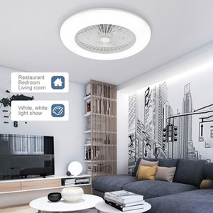 Ceiling Fan with Lighting LED Light Adjustable Wind Speed Dimmable with Remote Control Without Battery 36W Modern LED Ceiling Light for Bedr