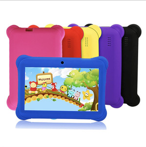 kid Tablet PC Q88 Quad Core 7 Inch 1024*600 HD screen Android AllWinner A33 real RAM 8GB Q8 with Bluetooth wifi child Christmas present