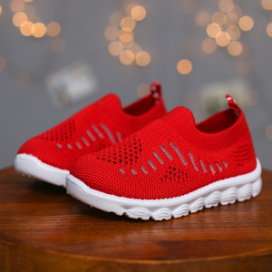 2020 Spring Summer Kids Shoes Children's Casual Sneakers Air Mesh Cut-outs Breathable Toddlers Boys Girls Sports Shoes Soft New Y1117
