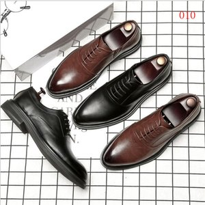 Hot Sale- toe shoes Big size mens lace-up shoes simple dress loafer classic man business flats travel shoes for man JI30