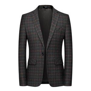Мужские костюмы Blazers Корейский модный бренд Tide Мужская клетчатка Blazer Дизайн Slim Fit Красивый повседневный мужской костюм куртка 5XL 6xL