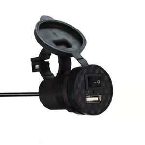 12V2V Мотоцикл Электрический автомобиль Мобильный телефон Зарядное устройство Батареи Автомобиль Вид сзади Зеркало Водонепроницаемый автомобиль с USB Автомобильное зарядное устройство