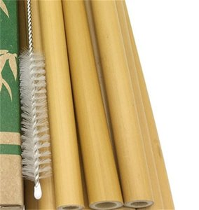 Green Bamboo Phyllolostachys Гетероцикла Соломена Натуральный 20см Отель Напитки Соломки с Кистью Молочный Чай Магазин 8 9NT F2