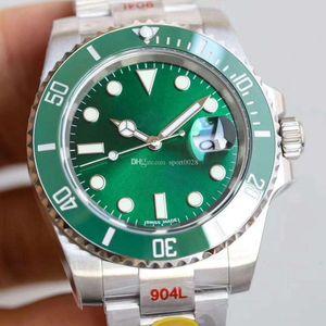 N Factory V10 116610LN ETA 2836. ETA 3135 Top Watch Sapphire Glass Mechanical Automatic Watch Ceramic Bezel الاتصال الهاتفي مضيئة الغوص 100 متر 904L