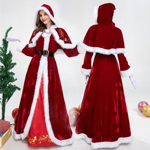 Men and Women Christmas Cosplay for Adult Santa Claus Christmas Queen Dress Christmas Couple Costumes Party Cosplay Hot Sale