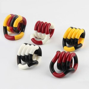 Adult Anti Stress toy Hand Sensory Decompression Twisted Winding Toys Finger for Kids Autism Dexterity Training Tangle Fidget Toys