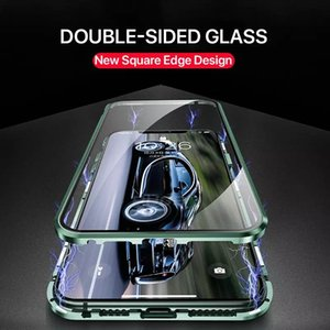 Aluminum Metal Double Sided Glass Protect Case For iPhone 12 Pro Max 11 XS X XR Luxury Magnetic 360 Full Protective Cover