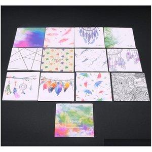 Nuovo arrivo 6 * 6 cm di carta di carta per fare gioielli accessori fai da te orecchini all'ingrosso cartellini / collana schede di visualizzazione etichetta etichette rpdr4
