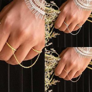 Ringe Kette für Frauen Persönlichkeit Blatt Knuckle Midi Midi Finger Tip Stapelkette Ringe Schmuck Für Frau Heißer Verkauf Geschenk A301