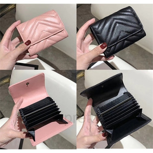 High Quality Card Holder Famous Brand Designer Purse Men Women Fashion Designer Card Holder Genuine Leather Luxury Card Holder 807