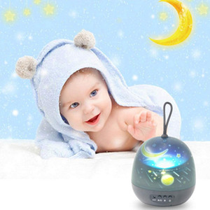 Starry Sky Projector Night Light Star Moon Ocean Rotating Projection Lamp Colorful LED USB or Battery Control for Kids Baby Lighting Bedroom