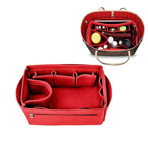 Make up Organizer Felt Cloth Handbag Organizer Insert Bag Travel Inner Purse Portable Cosmetic Bags 2020 New
