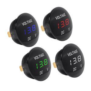 12 V LED Ekran Su Geçirmez Motosiklet Voltmetre Ölçer Gerilim Ölçer Motosiklet Araba Göstergeleri için LED Dijital Voltmetre