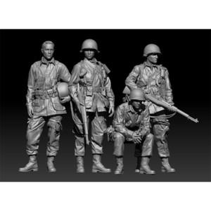 1 35 Resin Figure Model Kit Unassambled Unpainted 1077(4 figures NO BASE) LJ200925