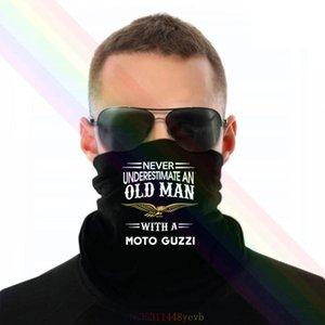 Nunca subestime um homem velho com um lenço de headband de moto guzzi bandana pescoço aquecedor unisex