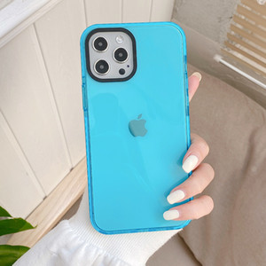Fluorescent Color Solid Color Mobile Phone Case for iPhone11 Drop-proof for iPhone 7 8 plus Simple Suitable for iPhone12Pro
