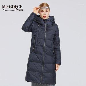 MIEGOFCE 2020 Yeni kadın Kış Pamuk Koleksiyonu Rüzgar Geçirmez Ceket Stand-up Yaka Kumaş ve Su Geçirmez Kadın Parka Coat1