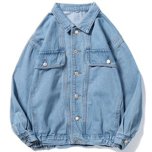 Spring and autumn 2020 brand teenagers student ripped denim jacket men's handsome loose youth jacket Korean style trendy clothesX1121