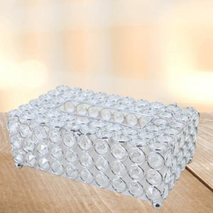 Crystal Tissue Box Simple Home Living Room Coffee Table Drawers Desktop Napkin Storage Box Creative Car Living Room
