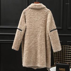 Larga Real Vintage Piel Mujer Sheaming Chaqueta Mujer Ropa de Invierno 2020 Moda Coreana 100% Abrigos de lana HIVE 891221